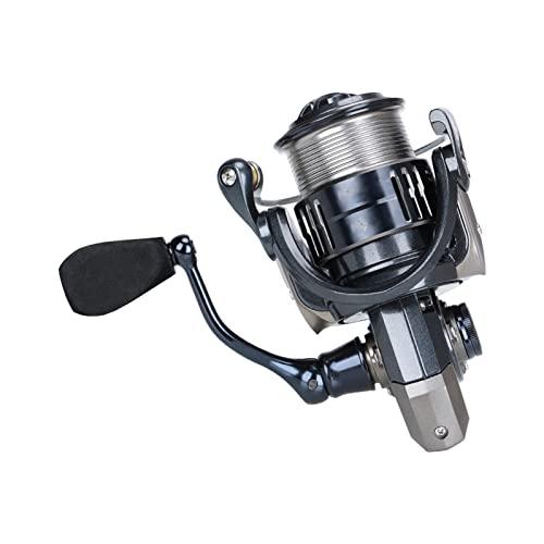 RKRXDH Carrete de Pesca Manual Carrete de Pesca Giratorio de Carbono 6Kg Potencia de Arrastre 9 + 1BB Carrete de fundición Largo de Carrete Poco Profundo Carretes de Pesca girando(Size:2500S)