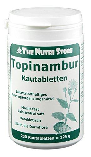 Topinambur Kautabletten 250 Stk. - ballaststoffhaltig mit Topinambur und Haferkleie