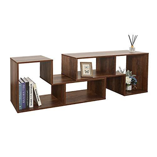 DEVAISE 2-Piece Versatile TV Stand, Universal Entertainment Center for 45-65 inch, Storage Console Bookshelf for Living Room, Black