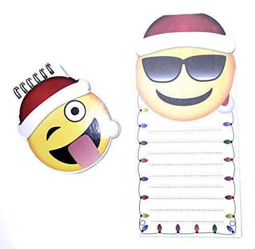 Emoji-Notizbuch und Sonnenbrillen, Emoji-Motiv, ohne Magnet, mit 37 Emoji-Aufklebern