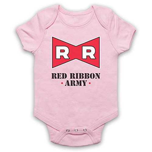 The Guns Of Brixton Dragon Ball Z Red Ribbon Army Bebe Barboteuse Body, Rose Clair, 0-3 Mois