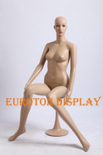 Tonhan SF-6 Schaufensterpuppe weiblich mit 2 Perücken gratis. Beweglich. Frau in Hautfarbe