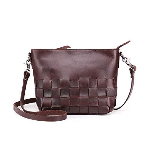 RUXMY Casual Ladies Bag Womens Crossbody Clutch Leather Bag Vintage Shoulder Bag For Work Shoulder Purse Bag Satchel Casual Womens Shoulder Bags (Color : Black, Size : 21x10x18.5cm)