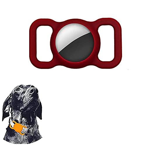 FEShtUy Funda Protectora de Silicona para Mascotas, Funda Protectora de Silicona para Airtag Dog Collar Loop, Buscador GPS Ajustable Funda Airtags para Mascotas Collar Niños Ancianos Bolsas 1PCS