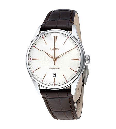 Oris Artelier Reloj automático con esfera plateada para hombre 01 737 7721 4031-07 5 21 65FC