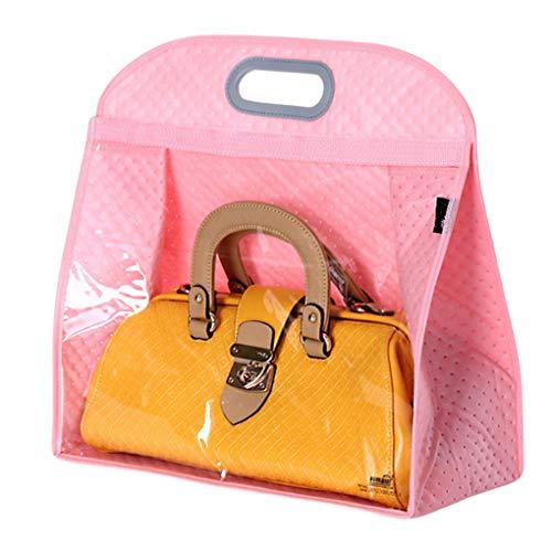 Santwo Handtaschen-Aufbewahrung, Kleiderschrank, Tasche, Organizer, Geldbeutel, PVC, platzsparend, Braun (rose), X-Large