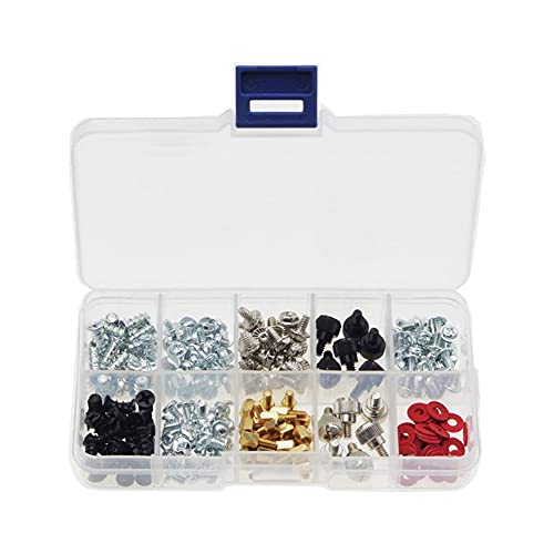 Haobase 228pcs Personal Computer Schrauben & Standoffs Set Sortiment Kit für Mother Board