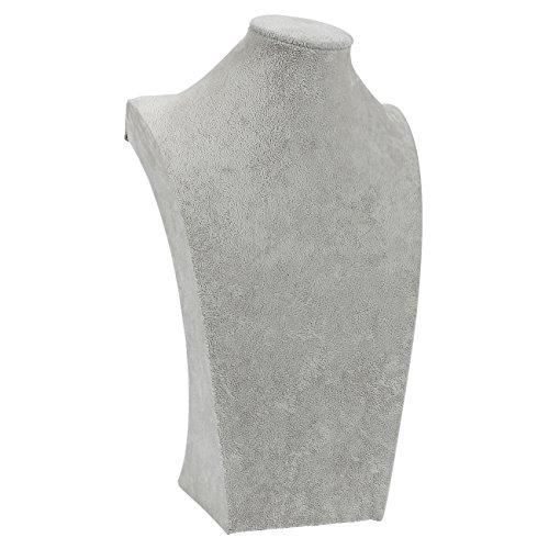 Sieraden Bust - Fluwelen Kettingstandaard - Vrijstaande Retail Ketting Mannequin Display Stand - voor Kettingen, Kettingen, Chokers, Hangen, Sloten