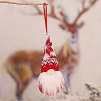 6ピースクリスマスツリー吊りノーム装飾品、スウェーデン手作りの豪華なノームサンタエルフ吊り家の装飾休日の装飾 D