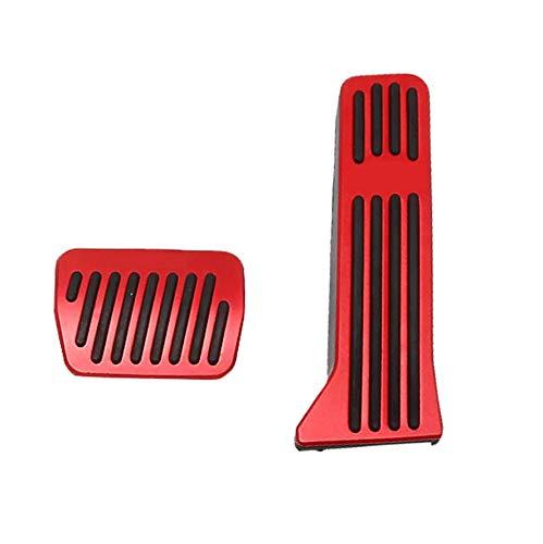 Cavis Aluminiumlegierung Keine Bohrer Gaspedalabdeckungen, Bremsfu?Pedalauflagen 2 StüCk (Rot) für 2 3 6 CX-3 CX-5 CX-9