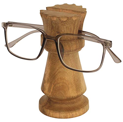 CRAFKART Chess Set Queen Spectacle Holder - Best Buy Queen Spectacle Holder Wooden Eyeglass Stand Handmade Display Optical Glasses Accessories