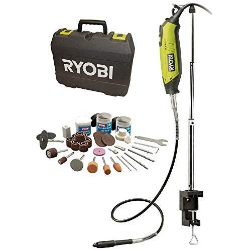 Ryobi 150 W Rotationswerkzeug EHT150V (Set mit 115-teiligem Zubehör, GripZone™, kraftvoller Motor, im Koffer) 5133000754