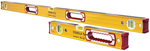 """Stabila 37816 Heavy Duty Type 196 Level Set - includes 48"""" and 16"""" Levels with Handholes"""
