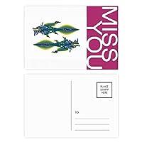 中国のフランスのエッフェル塔の中国のドラゴン ポストカードセットサンクスカード郵送側20個ミス