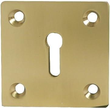 Quadratisch Schl/üsselloch Profil 50/mm x 50/mm Schrauben Mattes Chrom