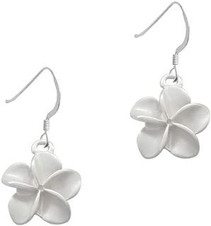 Pastel Plumeria Flower - French Earrings