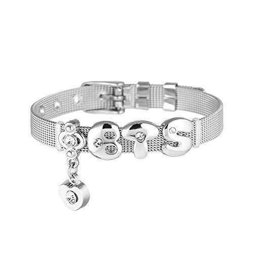 Fashion BTS SUGA Titanium Steel BTS Bracelet Accessories Handmade Titanium Steel Bracelet EXO Shinee BTS GOT7 (BTS)