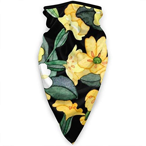 Yellow Flowers Balaclava Face Mask Ski Cycling Face Scarf Mask Neck Gaiter scarf