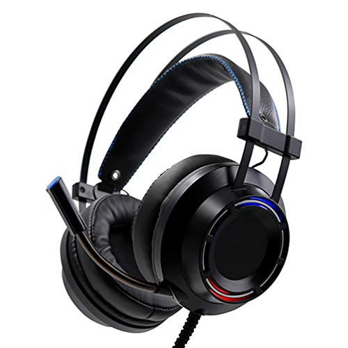 Gaming Headset, Deep Bass Game Stereo Earphones with Microphone & Volume Control, 3.5Mm Jack, LED Lights, for Computer and More