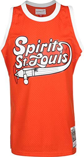 Mitchell & Ness 1975-76 Spirits of St. Louis Swingman Camiseta dark orange