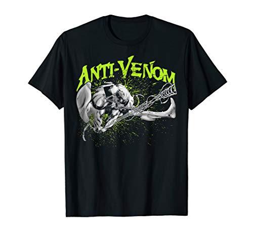 Marvel Anti-Venom Green Splatter Web Swing Action Shot T-Shirt