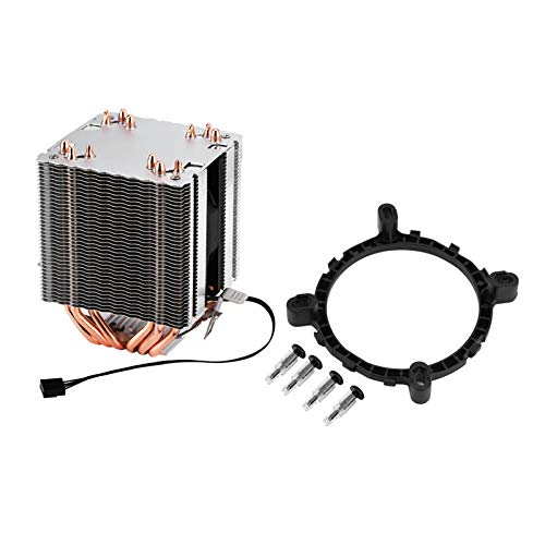 DERCLIVE Control de temperatura 6 enfriador de CPU silencioso 800-2200 RPM CPU Cooler para AMD/INTEL