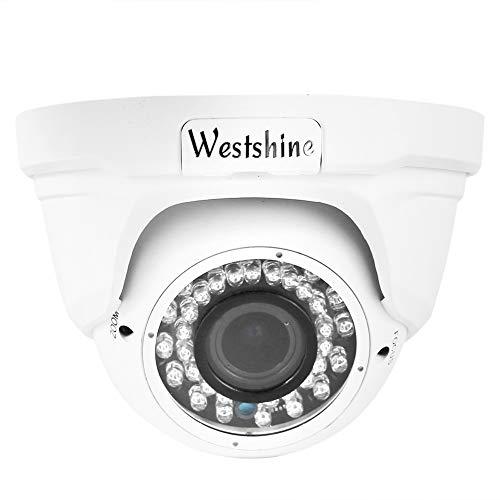 """Westshine 1080P Dome Cámara Exterior de Vigilancia CCTV Domo Cámara de Seguridad, HD 1/2.7"""" CMOS 2.8-12mm Gran Angular Lente 36 Leds Infrarrojos 100ft Visión Nocturna"""