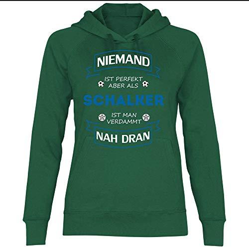 wowshirt Damen Hoodie Fußball Trikot Gelsenkirchen Schalker, Größe:M, Farbe:Bottle Green