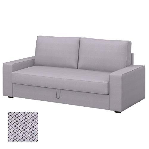 Soferia Bezug fur IKEA VILASUND 3er-Bettsofa Bezug, Stoff Nordic Light Grey