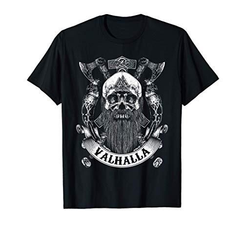 Viking Skull Beard Runes Valhalla T-Shirt
