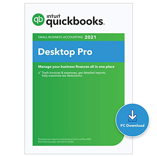QuickBooks Desktop Pro 2021 Accounting Software for Small Business with Shortcut Guide [PC Download]