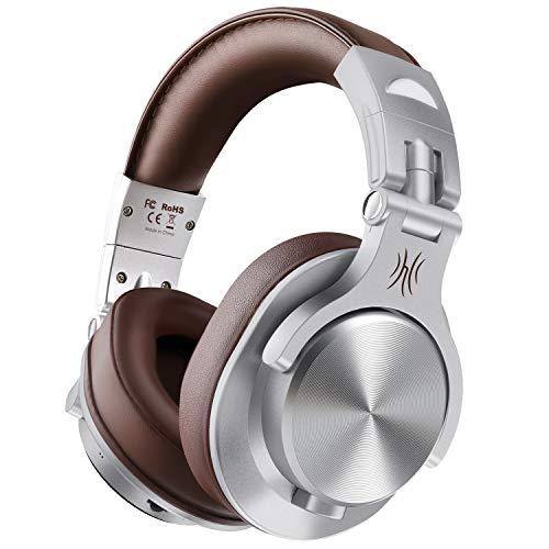 OneOdio Bluetooth Kopfhörer Over Ear Geschlossene HiFi Studiokopfhörer mit Kabel, kabellose Headphones 40 Stunden,kabelgebundene DJ-Kopfhörer für E-Drum Piano Gitarre AMP Recording und Monitoring