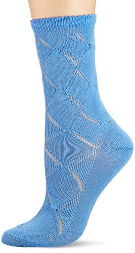 FALKE Damen Socken Argyle Corrosion, Baumwolle, 1 Paar, Blau (Sky Blue 6534), 39-42 (UK 5.5-8 Ι US 8-10.5)