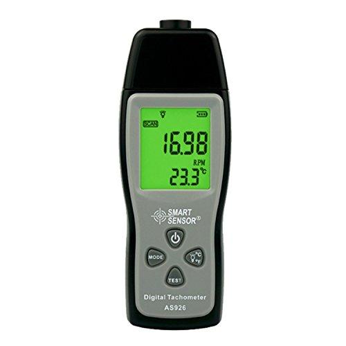 liuchenmaoyi Metalldickenzähler Geschwindigkeitsmessgeräte Digitaler Tachometer Tach Range 30000RPM LCD-Anzeige Motorgeschwindigkeitsmesser AS926 Dickenzähler