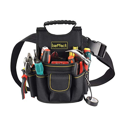 Baffect Custodia per elettricista, cintura da 20 tasche Tasca per attrezzi da tasca con cinturino in regolabile Custodia per attrezzi da elettricista professionale Borsa da lavoro per elettricisti