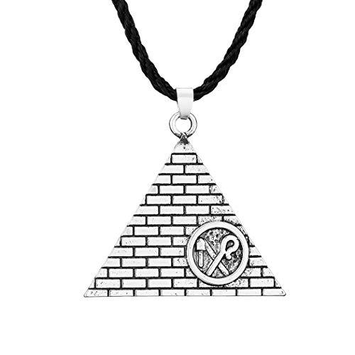 Chereda Crook and Flail - Collar con pirámide egipcia para mujer, símbolo egipcio amuleto de los hombres de la joyería accesorios