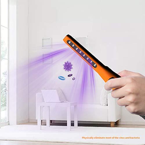 Handheld UV Sterilisatie Lamp, Draagbare Kleine Kiemdodende Licht Met 8LED Lamp Kralen En Hoge Intensiteit UV-Straling Voor Car Household Koelkast WC Toegelaten Zone