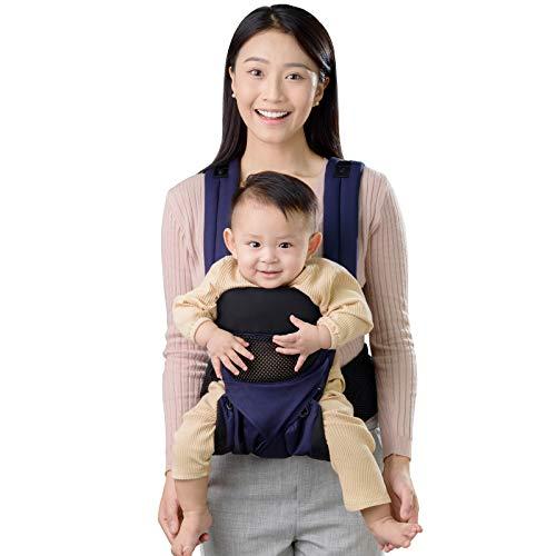 Yoroshi Marsupio Neonati, Ergonomico Puro cotone Leggero e Traspirante, Per Neonato e Bambino da 3 a 48 Mese (3,5 a 20 Kg)