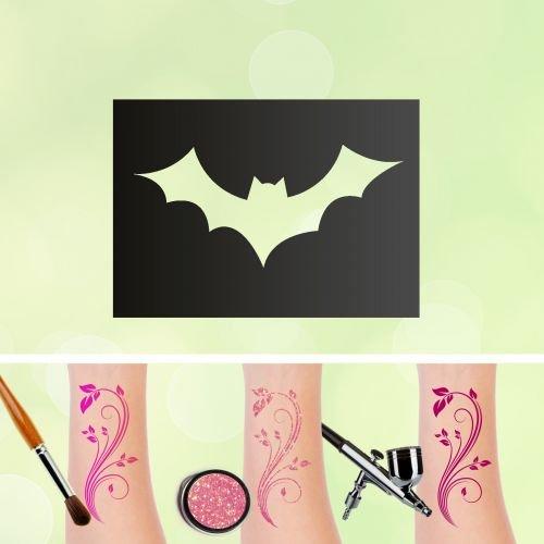 Tattoo Schablonen Fledermaus Selbstklebend Kinderschminken Airbrush Größe 1 Stk