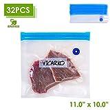 "VICARKO Quart Vacuum Sealer Bags Zipper Bags for Food Saver and Storage, compatible with VICARKO Handheld Vacuum Sealer Model VK9939 | 11.0"" * 10.2"", 30-Pack, Medium"
