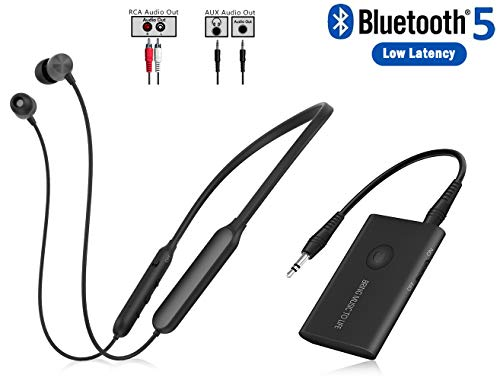 commercial Bluetooth transmitter, RCA support, AUX audio 3.5 mm … wireless earbuds for tv