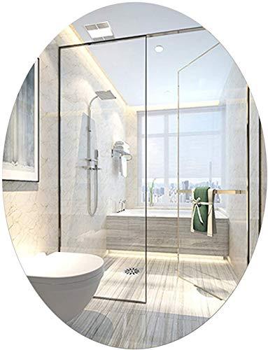 aipipl Espejo de Maquillaje de Pared de Espejo de baño Ovalado sin Marco, tocador, Sala de Estar, Espejo de Vidrio montado en la Pared 40x60cm, 60x80cm, 50x70cm