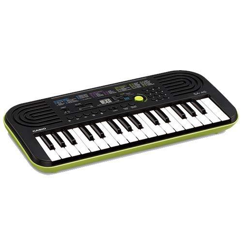 Kit Pianola Tastiera Casio SA46 (Fondo Verde) con Alimentatore, Borsa ffalstaff ® e Metodo Suona la Tastiera