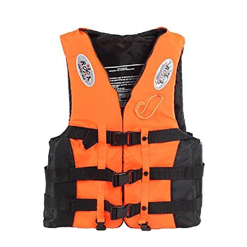 JSTCY Rettungswesten mit Pfeifen Schwimmweste Feststoffweste Kinder Erwachsene Baby (Orange, S)