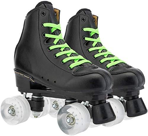 Fbewan Indoor- und Outdoor-Rollschuhe für Erwachsene, doppelreihig, Wildleder, Skates für Herren und Damen, doppelreihiges Rad mit vier Rädern, 41