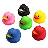 YYhkeby Zpong 6 Piezas Conjunto de Juguete de bebé Colorido natación del bebé del baño del Pato pequeño Pato Amarillo Niños de baño Juguetes de Juego Pinch Llamado Patito Jialele