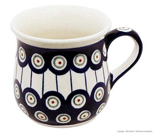 Original Bunzlauer Keramik Kaffeebecher V=0,25 Liter im Dekor 8