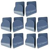 Cabilock 10 pares de tapas de ollas de pared, soporte de pared para ollas, tapas autoadhesivas para cocina, color azul