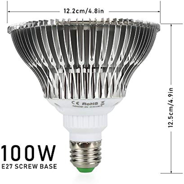 Vollspektrum 80W Led 100 Watt Led Anlage Wachsen Licht Vollspektrum Led E27 Led Pflanzen Wachsen Lampenbirne Phyto Für Gemüse Blühende Hydroponischen Zelt-Box 100 Watt 3 Modi