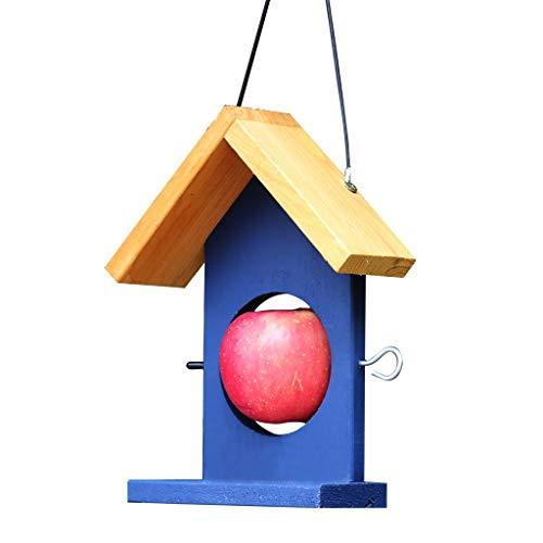 ZhuFengshop Vogelvoedervoer Vruchtvogel Vogelvogel Vogelvoederbal, Tuin Vogelvoederstation Ophangen Houten Zaad Fruit Pin Feeder Finches, Tuin, Buiten